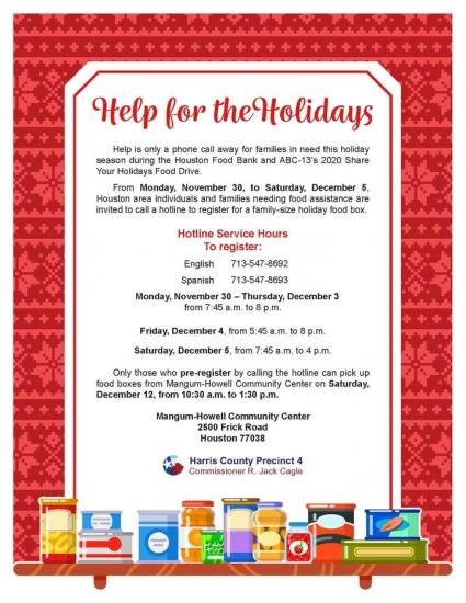 Houston's 2020 Share your Holidays Food Drive Available Now
